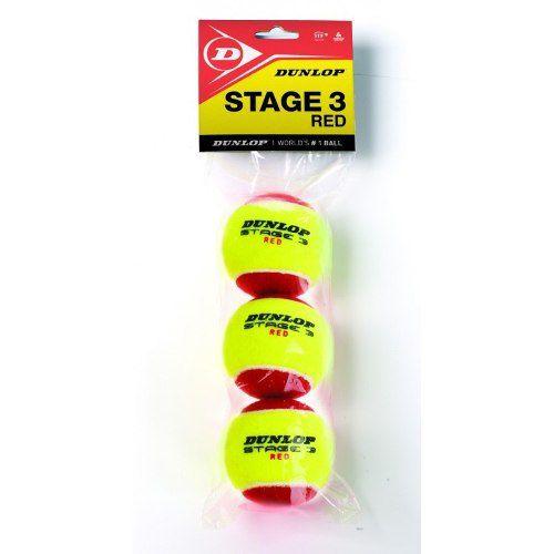 Bola De Tênis Dunlop Stage 3 - Pacote Com 3 Bolas