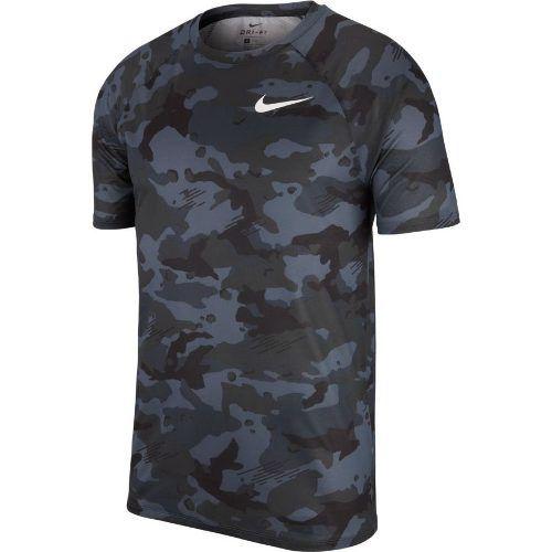 Camiseta Nike Dri Fit Camuflada Cinza/preta - 923524-036