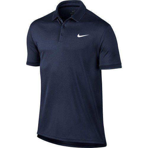 Camiseta Polo Nike Court Dry - Azul - 830849-411