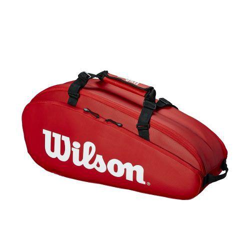 Raqueteira Wilson Dupla Tour 2 Comp Vermelha
