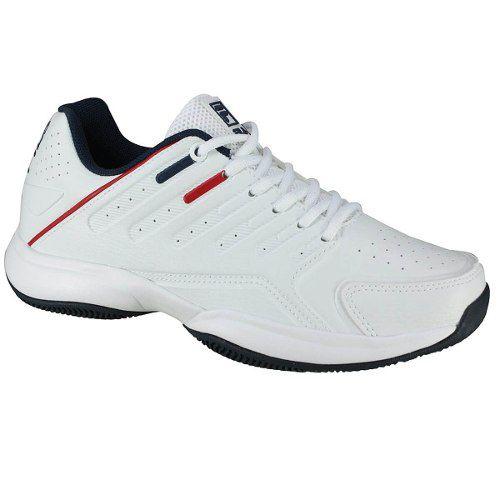 Tênis Fila Lugano 6.0 - Branco/marinho/vermelho