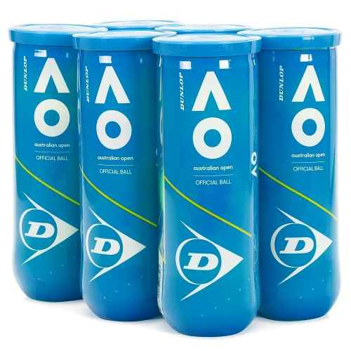 Bola De Tênis Dunlop Australian Open- 6 Tubos Com 3 Bolas