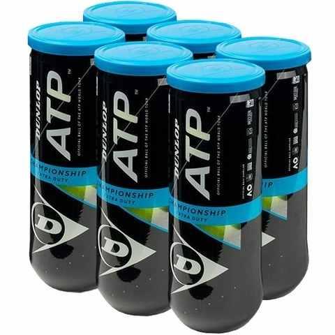 Bola De Tênis Dunlop Championship Atp - 6 Tubos Com 3 Bolas