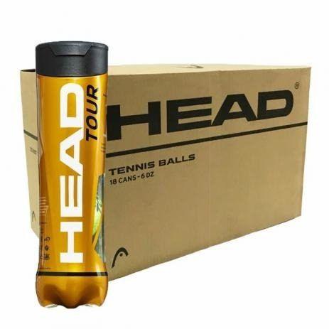 Bola De Tênis Head Tour - 18 Tubos Com 4 Bolas-caixa Fechada