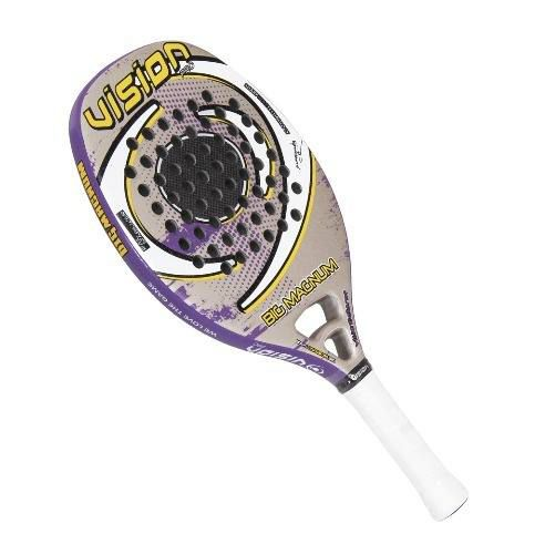 Raquete Beach Tennis Vision Big Magnum (cinza/roxa/amarela)