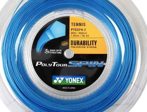 3 Sets De Corda Yonex Poly Tour Spin 1,25 - Set De 12m