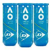 Bola De Tênis Dunlop Australian Open- 3 Tubos Com 3 Bolas
