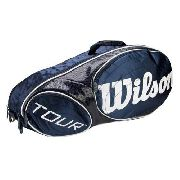 Raqueteira Wilson Tour 6pk Azul