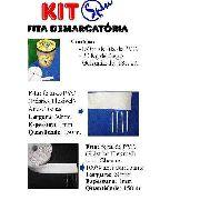 Kit De Fita Demarcatoria Spin Para Quadra De Tênis C/ Pregos