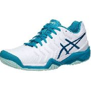 Tênis Asics Gel Resolution 7 - White/artic Aqua/glacier Sea