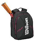 Mochila Wilson Tour Backpack - Preto/rosa