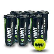 Bola De Tênis Inni Tournament - 6 Tubos Com 3 Bolas