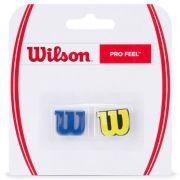 Antivibrador Wilson Pro Feel Amarelo e Azul - 1 Par