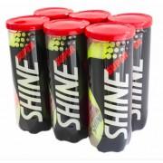 Bola de Tênis Super Shine - 6 Tubos com 3 Bolas