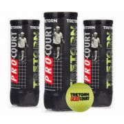 Bola de Tênis Tretorn ProCourt - Pack com 03 Tubos