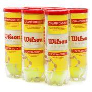 BOLA DE TÊNIS WILSON CHAMPIONSHIP - TUBOS COM 3 BOLAS - 6 TUBOS COM 3 BOLAS