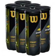 Bola de Tênis Wilson US Open Extra Duty - 6 Tubos com 3 Bolas