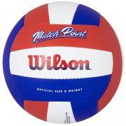 Bola de Volêi Wilson Match Point - Vermelho/Azul/Branco