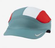 Boné Nike Dri-Fit Tailwind Running Cap Azul Petróleo/Vermelho/Branco