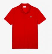 Camisa Lacoste Sport Polo em otomano com mistura de algodão Vermelho