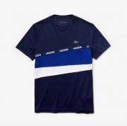 Camiseta Lacoste Sport com Faixa de Assinatura Lacoste