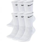 Meia Nike Cano Alto Everyday Cotton Cushion Crew – 6 Pares (39-43) - Branco