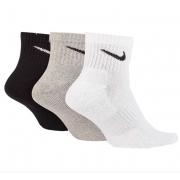 Meia Nike Cano Médio Everyday Cushion Ankle 3 pares - Misto (34-38)