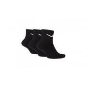 Meia Nike Cano Médio Everyday Cushion Ankle 3 pares - Preto  (39-43)
