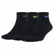 Meia Nike Cano Médio Feminino Performance Cushion 3 pares - Preto (34-38)