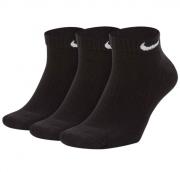 Meia Nike Everyday Cushion Low Cano Baixo 3 pares - Preta (39-43)