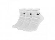 Meia Nike Everyday Cushion Quarter 3 pares - Branco (34-38)