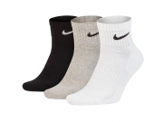 Meia Nike Everyday Cushion Quarter 3 pares - Misto (34-38)
