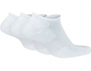 Meia Nike Sem Cano Everyday Cushion 3 pares - Branco (39-43)