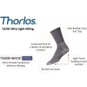 Meia Thorlo Cano Alto Ultra Ligh Hiking - Preto (41-44) - ULHX13