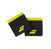 Munhequeira Babolat Logo - 1 Par - Preto/Amarelo