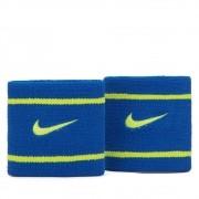 Munhequeira Nike Dri-fit Pequena Azul/Verde limão - 1 Par