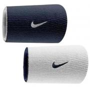 Munhequeira Nike Dupla Face Grande Azul Marinho e Branco - 1 Par