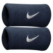Munhequeira Nike Grande Swoosh Double Wide - Azul Marinho - 01 Par