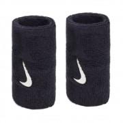 Munhequeira Nike Grande Swoosh Double Wide - Preto - 01 Par