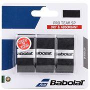 Overgrip Babolat Pro Team Preto - 3 Unidades