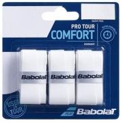 Overgrip Babolat Pro Tour Comfort - 3 Unidades Branco