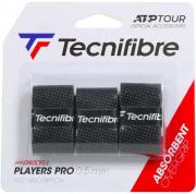 Overgrip Tecnifibre Players Pro - Embalagem com 3 unidades - Preto