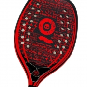 Raquete de Beach Tennis Turquoise Black Death 10.2 Vermelho