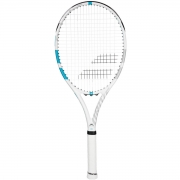 Raquete de Tênis Babolat Drive G Lite Branca/Azul Piscina Encordoada