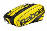 Raqueteira Babolat Pure Aero X12 - Amarelo e Preto