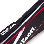 Raqueteira Wilson Advantage Team X3 Preto/Vermelho/Branco