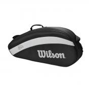 Raqueteira Wilson RF Team 3PK Black