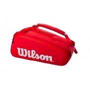 Raqueteira Wilson Super Tour 15Pk Vermelha