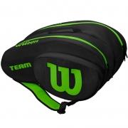 Raqueteira Wilson Team Beach Tennis e Padel - Preto/Verde