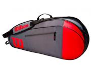 Raqueteira Wilson Team X3 - Vermelho/Cinza